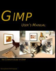 Gimp User's Manual - Discrete Imaging and Graphics Group