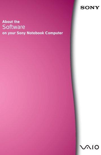 Sony PCG-C1F - PCG-C1F Manuale software Inglese