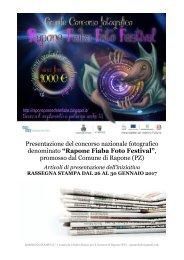 RAPONE FIABA FOTO FESTIVAL - Rassegna stampa di presentazione del concorso