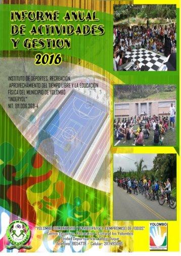 DOCUMENTO INFORME GESTION 2016