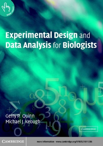 Experimental Design and Data Analysis for Biologists - LAC Biosafety