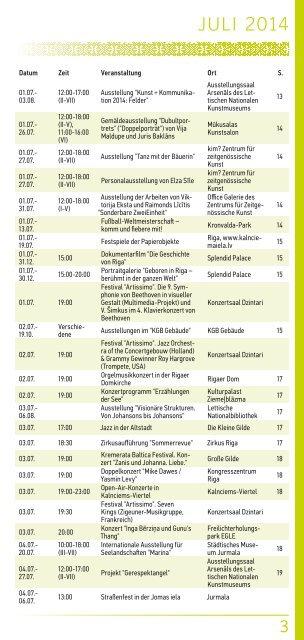 Events in Riga 7-9/2014