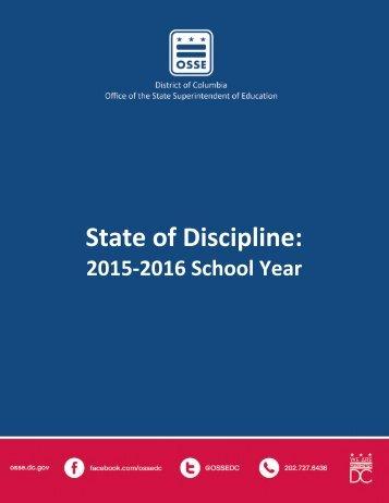 State of Discipline