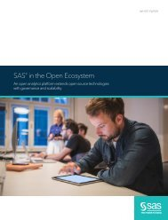 SAS in the Open Ecosystem Title