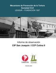 Informe de observación CIP San Joaquín / CCP Colina II