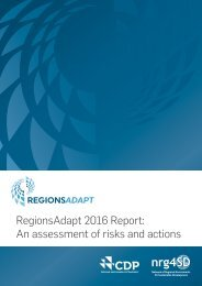 RegionsAdapt 2016 Report An assessment of risks and actions