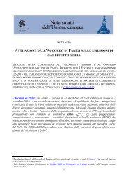 ATTUAZIONE DELL'ACCORDO PARIGI