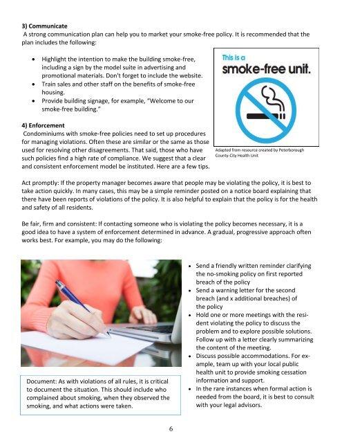 Developing smoke-free condos