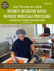 VT Food Venture Center Case Study