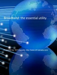 Broadband the essential utility