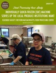 Western Mass Food Processing Center Case Study