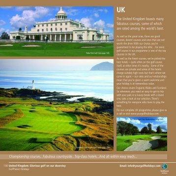 Golf Holidays UK