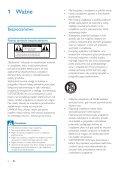 Philips Minichaîne hi-fi - Mode d'emploi - POL - Page 4