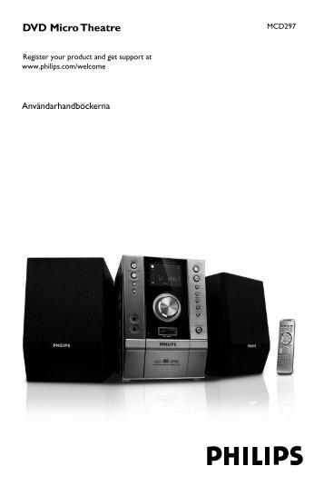 Philips Microchaîne DVD - Mode d'emploi - SWE