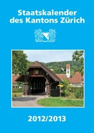 Staatskalender des Kantons Zürich 2012/2013 - Staatskanzlei ...