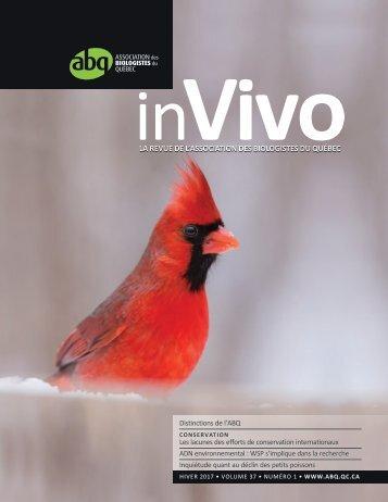 LA REVUE DE L'ASSOCIATION DES BIOLOGISTES DU QUÉBEC
