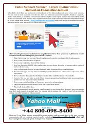 Yahoo Support Number - Create another Email Account on Yahoo Mail Account