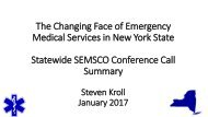 Statewide SEMSCO Conference Call Summary