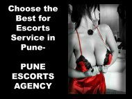Choose the Best for Escorts Service in Pune- PUNE ESCORTS AGENCY