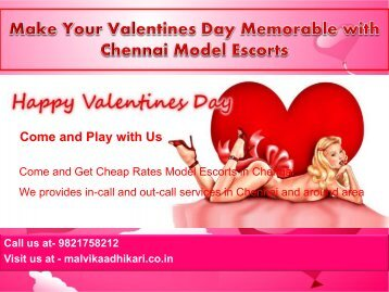 Valentines Day Special Model Escorts in Chennai