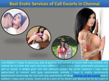 Real and amazing Escorts Services Available in Chennai