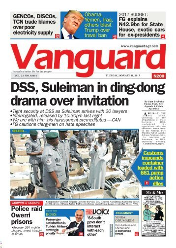 31012017 DSS, Suleiman in ding-dong drama over invitation