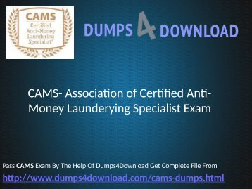 CAMS Dumps Free Download PDF - Dumps4download