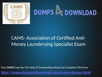 CAMS Dumps Free Download PDF - Dumps4download