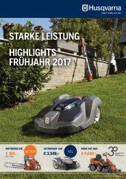 STARKE LEISTUNG – DIE HUSQVARNA HIGHLIGHTS IM FRÜHJAHR 2017