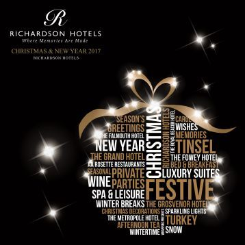 V2 Richardson Christmas & New Year Brochure 2017