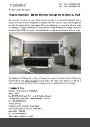 Home Interior Designers In Delhi & NCR