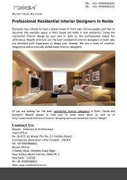 Residential Interior Designers In Noida