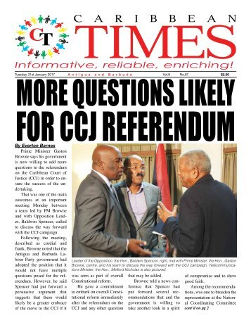 Caribbean Times 87th Issue - Tuesday 31st January 2017