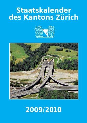 Staatskalender des Kantons Zürich 2009/2010 - Ombudsmann des ...