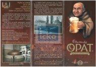 Olivětínský Opat - orginální klášterní pivo