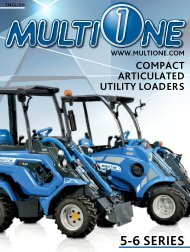 - 5 & 6 SERIES - COMPACT ARTICULATED LOADERS