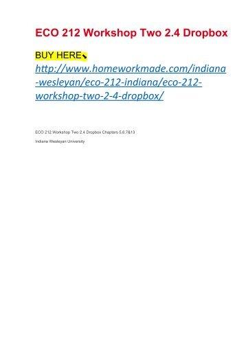 ECO 212 Workshop Two 2.4 Dropbox