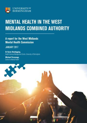 MENTAL HEALTH IN THE WEST MIDLANDS COMBINED AUTHORITY
