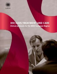 HIV/AIDS Treatment and Care : Clinical protocols for the European ...