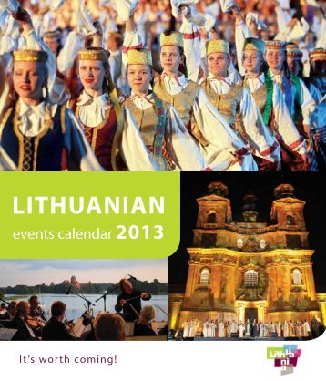 LITHUANIAN events calendar 2013