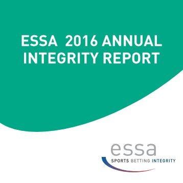 ESSA 2016 ANNUAL INTEGRITY REPORT