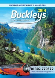 Buckleys Coach Holidays 2014