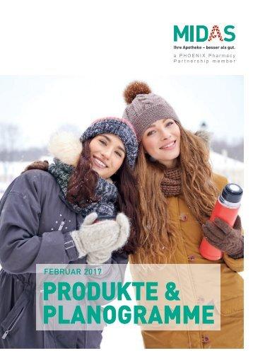 MIDAS Produkte und Planogramme Februar 2017