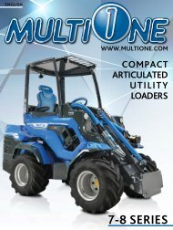 - 7 - 8 SERIES - COMPACT ARTICULATED UTILITI LOADERS
