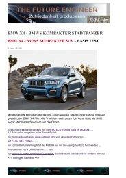 EXE3 BMW X4 - BMWS KOMPAKTER Citypanzer