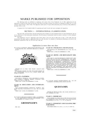 14 October 2003 - U.S. Patent and Trademark Office