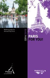 Walking guide for discovering Paris