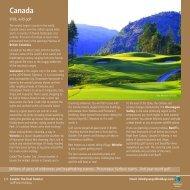 Golf Holidays Canada