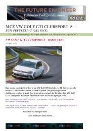 EX3 VW Golf GTI Clubsport S Test A