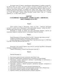 Fondacija Novi Sad 2021